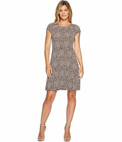 MICHAEL Michael Kors Leo Shirred Neck Dress