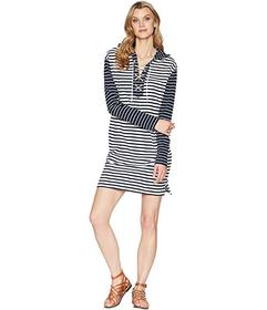 CHAPS Striped French Terry Dress