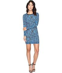 Nicole Miller Mercedes Marble Transparency Dress
