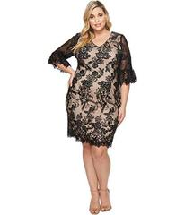 Adrianna Papell Plus Size Eillen Embroidery Flare