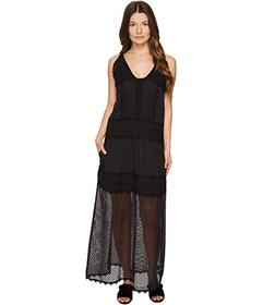 Just Cavalli Sleeveless Long Lace Sheer Dress