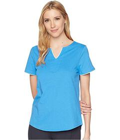 Jockey Short Sleeve Tunic Top with Contrast Piping