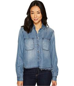 7 For All Mankind Step Hem Denim Shirt w/ Released