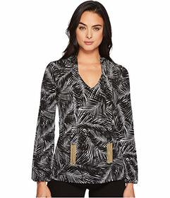 MICHAEL Michael Kors Abstract Palm Long Sleeve Tie