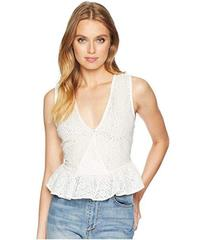 BCBGeneration Ruffle Hem Surplice Tank Top