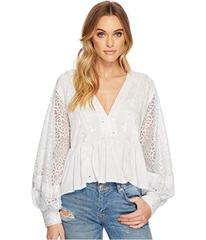 Free People Boogie All Night Solid Blouse