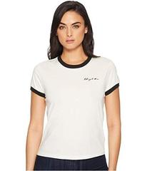 "7 For All Mankind Embroidered Baby Ringer Tee ""Tak"