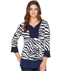 Jones New York Printed Border Tunic
