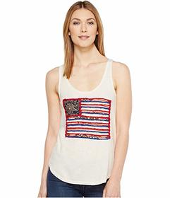 Lucky Brand Flag Patch Tank Top