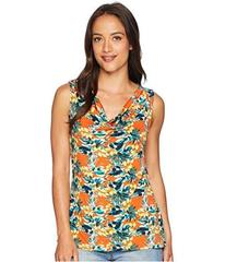 Tahari by ASL Floral Cowl Neck Matte Jersey Top