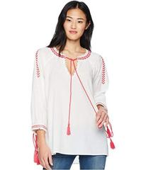 ROMEO & JULIET COUTURE Embroidered Peasant Blouse