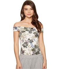 Free People Off the Shoulder Printed Bodysuit