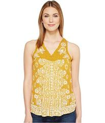 Lucky Brand Floral Lace Yoke Tank Top