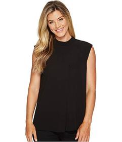 Vince Camuto Sleeveless Mock Neck Blouse w/ Front