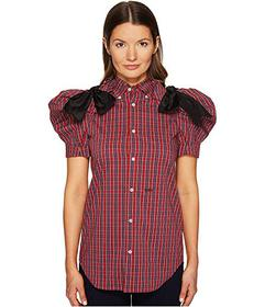 DSQUARED2 Check Cotton Puff Short Sleeves Shirt