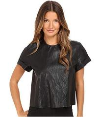 Just Cavalli Eco-Leather Cropped T-Shirt