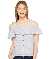 Lucky Brand Space Dyed Ruffle Top