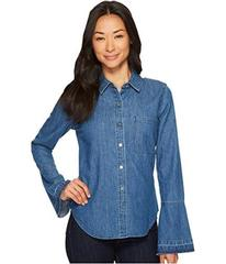 7 For All Mankind Bell Sleeve Denim Shirt in Pico