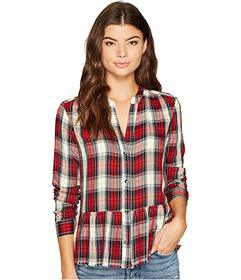Splendid Cropped Shirt with Fray