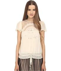 RED VALENTINO Cut Out Embroidery Point D'espr
