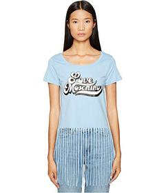 LOVE Moschino LOVE Fringe Crop Top