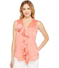 Calvin Klein Sleeveless Top with Ruffle Front Blou