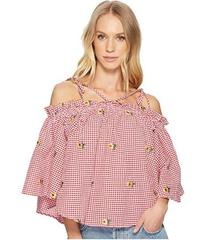 ROMEO & JULIET COUTURE Gingham Daisy Blouse