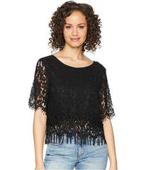 ROMEO & JULIET COUTURE Lace and Fringe Top