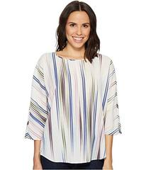 Vince Camuto Elbow Sleeve Colorful Peaks Center Fr