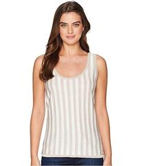 Anne Klein Striped Scoop Neck Tank Top - Striped K
