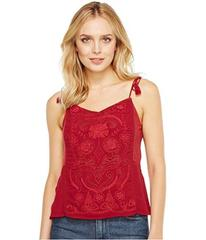 Lucky Brand Washed Embroidered Top