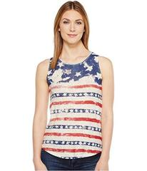 Lucky Brand American Flag Print Tank Top