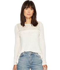 Lucky Brand Lace Collar Thermal Top