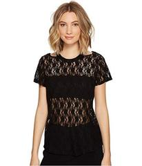 Nicole Miller Riley Stretch Lace Cut Out Top