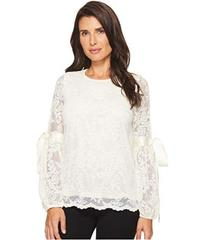 Vince Camuto Tie Cuff Bubble Sleeve Floral Lace To