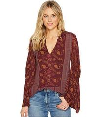 Lucky Brand Mix Print Peasant Top