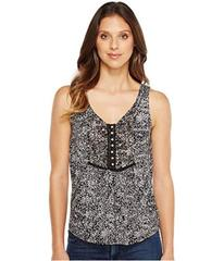 Lucky Brand Black & White Printed Tank Top