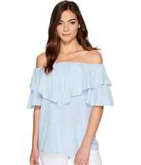 HEATHER Maria Twill Voile Ruffle Off the Shoulder
