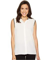 Vince Camuto Sleeveless Collared Button Down Blous
