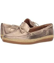 Clarks Gold Metalic Leather