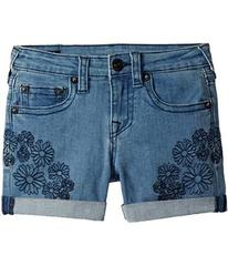 True Religion Bobby Embroidered in Daisy Blue (Big