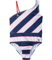 Tommy Hilfiger Rugby Stripe One-Piece Swimsuit (Li