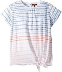 7 For All Mankind Tie Front Top (Big Kids)
