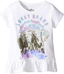 Lucky Brand Short Sleeve Elephant Tee with Ruffle