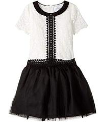 Us Angels Short Sleeve Peter Pan Collar with A Dro