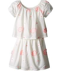 Chloe White Dress with Pink Embroidery (Little Kid