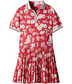 Lanvin Short Sleeve Floral Print Polo Dress with P