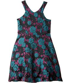 Us Angels Cut Away Fit and Flare Dress with Flower