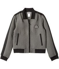 Karl Lagerfeld Jacquard Quilted Zip-Up Cardigan (L