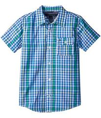 Tommy Hilfiger Short Sleeve Chris Yarn-Dye Plaid S